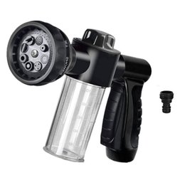 Wholesale Foam Sprayer Garden Hose Spray Nozzle Car Wash Foam Gun with cc Bottle Snow Lance with Washing Mitt Spray Pattern