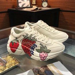 $enCountryForm.capitalKeyWord Australia - Luxury Men Shoes Casual Designer Rhyton Leather Sneaker Fashion Type Mens Sneakers Lace Up Style Casual Mens Shoes Scarpe da uomo Hot Sale