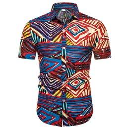 $enCountryForm.capitalKeyWord Australia - Summer Short Sleeve shirt Men's shirt Camisa Casual Hawaiian Printing Ethnic Cotton Linen Male Blouse Tops Camisa masculina