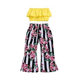 $enCountryForm.capitalKeyWord NZ - Summer Girls Clothing Sets 2pcs Top +Floral Pants Baby Girls Sets 2019 Sexy Children Clothing