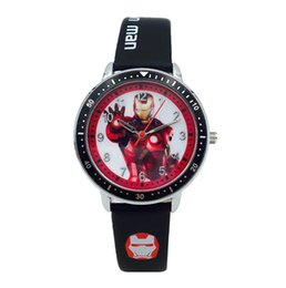 $enCountryForm.capitalKeyWord Australia - Luxury Watch Avengers Alliance Cartoon Boys and Children's Watches Iron Man Spiderman Thor Waterproof Kid Leather Cool Watches