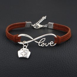 Vintage tin jewelry box online shopping - Fashion Woven Dark Brown Leather Suede Rope Velvet DIY Bracelet for Women Men Vintage Infinity Love Medicine Box Cross Pendant Party Jewelry