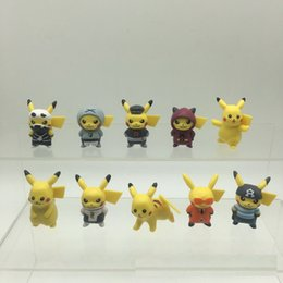 Pvc dolls online shopping - 10 Styles Pikachu Action Figures Doll Toys cm PVC Pikachu Twist Egg Doll Model Decorations Kids Gift Home Display L444