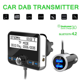 $enCountryForm.capitalKeyWord Australia - Multi-function Car DAB Radio Receiver Tuner USB Adapter Bluetooth FM Transmitter Antenna LCD Digital Radio Handsfree Calling