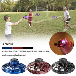 Flash games children online shopping - Free for Rotator Finger Sensing Aircraft Game Toy Mini LED Drone UFO Child Flying Disc Toy Gift In Stock