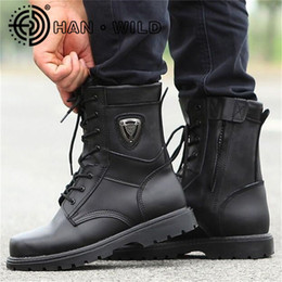 Army combAt boots online shopping - Natural Woolen Work Boots Men Steel Toe Tactical Boots Mens Anti piercing Safty Shoes Men Lace up Combat Army Bootss
