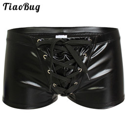 latex hommes court achat en gros de-news_sitemap_homeMens Sexy Faux Cuir Brillant Boxers Sous Vêtements Exotiques Gay Mâle Latex Wetlook Shorts Culottes Bikini Maillots De Bain Cool Fetish Lingerie