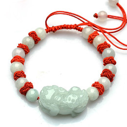 life saving bracelet 2020 - Jadeite Jade, Light Green Hand Chain, Hand Chain, Life-saving Red-rope Bracelet discount life saving bracelet