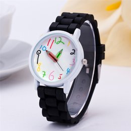 wristwatch sales NZ - 2020 hot sale band boys kids's gifts watch battery strap cartton cute colorful clock pencil analog wristwatches