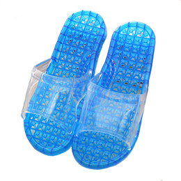 0cf164ca0 Multicolor Crystal Sandals Bathroom Bath Anti-skid Hollow Leaking Slippers  Women Home Massage Couple Plastic Sandals and Slipper