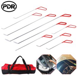 $enCountryForm.capitalKeyWord NZ - 10 pcs set PDR Tools Spring Steel Push Rods Paintless Dent Repair Hail Removal Tail Set