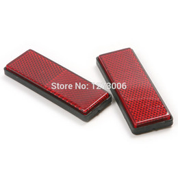 $enCountryForm.capitalKeyWord UK - Hot 2Pcs 87*32*11mm Car Truck Motorcycle Bicycle Reflective Plate Sticker Safety Warning Mark for Truck Red Rectangle Reflector