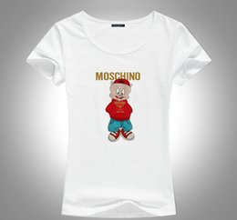 shirt pig print Australia - Summer Designer T Shirts For Women's Fashion mos bear pig Printing T Shirt Clothing Italy LuxuryT Brand Short Sleeve Tshirt Women Tops