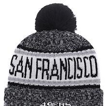 custom knit beanies NZ - 2019 Unisex Autumn Winter hat Sport Knit Hat Custom Knitted Cap Sideline Cold Weather Knit hat Warm SAN FRANCISCO SF 49 Beanie Skull Cap 02