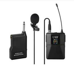 bodypack transmitter UK - UHF Wireless Lavalier Lapel U8 Microphone System with Bodypack Transmitter Mini XLR Female Lapel Mic and Portable Receiver1 4 Inch Output