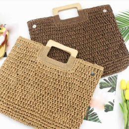 $enCountryForm.capitalKeyWord Australia - KKMHan Brand New Hand Woven Bag Women Handbag Retro Fashion Beach Bag Female Summer Straw Dropshipping borse da donna bolsas