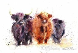 $enCountryForm.capitalKeyWord Australia - Cow Face Abstract Art Animal Nature quality Canvas,Handmade  Print Home Decor Wall Art Oil Painting On Canvas Multi Sizes  Frame Options 144