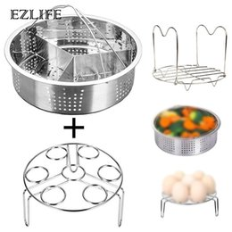 $enCountryForm.capitalKeyWord Australia - EZLIFE Stainless Steel Cooking Tools Egg Steamer Rack Kitchen Egg Steamer Shelf Steam Rack Stand Kitchen