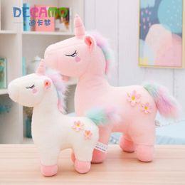 $enCountryForm.capitalKeyWord UK - Unicorn Pink White Stuffed Animal Collectible Plush Toys Pillow Car Decoration Cute Baby Valentine's Day Gifts Hot Toys Dolls