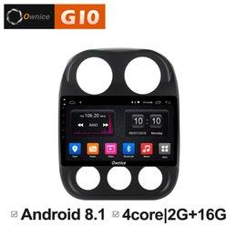 Gps Hd Australia - HD 10.1 inch Android 8.1 Quad Core 2GB RAM+16GB ROM Car DVD For Jeep Compass 2010-2016 GPS Navigation Radio Stereo BT