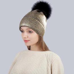 b5a3b81b713 Designer winter hats Knitted Pom Beanies Snow Hats For Adults Mens Womens  Skull Winter Cap Slouchy Head Warmer Hair Bonnet Fur Ball Cny938
