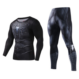 Leggings Costumes Australia - crossfit men Bodysuit Skinny Men Funny T shirt 3d Plus Compression Sets Long Fitness Suits High Quality Leggings Polyester Male Crossfit
