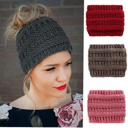 f82490b3248 Best European Men And Women Autumn And Winter Ebay New Pattern Knitting  Ponytail Hat Wool Set Head Cap Outdoors Keep Warm Goods In Stock