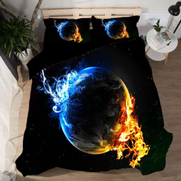 galaxy bedding full size 2019 - 3D Star Bedding Set Galaxy Duvet Cover Pillowcase Sci-Fi Pattern Polyster Twin Full Queen King Size Bedlinen Soft 3pcs c