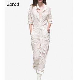 $enCountryForm.capitalKeyWord NZ - 2019 Summer Luxury Runway Women Set Elegant Long Sleeve Turn Down Collar White Lace Blouse Shirt+high Waist Long Pants