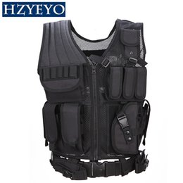 $enCountryForm.capitalKeyWord NZ - Military Camouflage Combat Vests Mens Tactical Hunting Vest Army Adjustable Armor Outdoor CS Training Vest , HZYEYO ,H-006