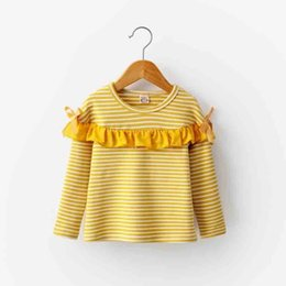 $enCountryForm.capitalKeyWord NZ - good quality baby girl fashion striped bow long sleeve T-shirt 2019 spring autumn new children cotton top fit for 2-7 Years girls