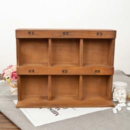 $enCountryForm.capitalKeyWord Australia - Decor Wooden Storage Box 6 Section Divided 2 Layers Drawer Desk Wood Organizer Multi-functional Wooden Storage Shelf