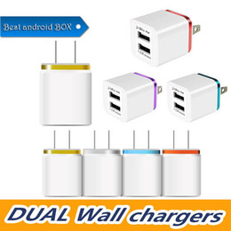 $enCountryForm.capitalKeyWord Australia - cell phone chargers- US Plug 2A Dual USB Wall Charger Adapter 2 Port Charger Adapter for i7 i6 HTC Samsung