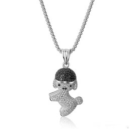 $enCountryForm.capitalKeyWord Australia - Cute Beautiful Animal Theme Pendant Necklace Copper Zircon Jewelry Wearing Hat Puppy Small Animal Series Necklace High Quality