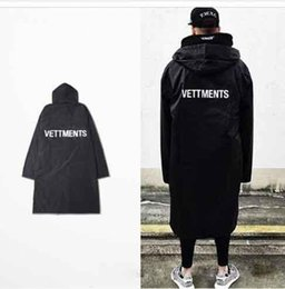 2019new Erkek Vetements Yağmur Coat Kanye West Bombacı Ceket Streetwear Uzun Kapüşonlular Erkekler Hip Hop Oversize Marka Clothes42f1 #