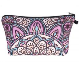 Chinese  Printing women's bag Geometrical Cosmetic Bag Makeup Fashion Package Women Toilets make up Zipper Pattern manufacturers