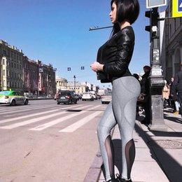 $enCountryForm.capitalKeyWord Australia - New Women Sexy High Waist Sporting Leggings 2018 Mesh Patchwork Breathable Fitness Legging Hip Push Up Casual Workout Slim Pants Q190419