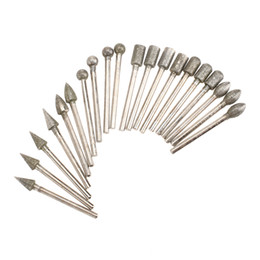 $enCountryForm.capitalKeyWord Australia - 3mm shank 20Pcs Dremel Accessories Diamond Grinding Heads Mini Drill Burrs Bit Set for Dremel Rotary Tool Grinding Accessories 3mm Shank