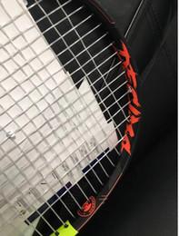 Fibre Tennis Carbon professionnel Racket Tennis Grip Racquets Equipé Sac Surgrip Racchetta De en Solde
