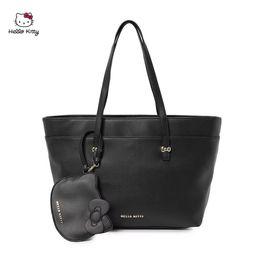 $enCountryForm.capitalKeyWord Australia - 2Pcs Lot HELLO KITTY Printing Cartoon Fashion Shoulder Bags Mummy Bag Simple Large-capacity Hand Bag Luxury HK-TT073