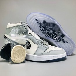 Toptan satış High Top Low Dior Converse Nike Air Jordan 1 AJ1 Oblique Slides Racer Zoom R2T B23 Kim Jones Designer Luxury Hommes Femme Basketball Women Men Sneakers Sports Running Shoes 36-46