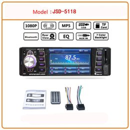 Discount car mp3 mp5 player - 4.1in Bluetooth Car Audio Stereo FM DVD CD MP5 Player Receiver USB SD AUX Input Support playback AVI   JPEG   WMA MP3 DC