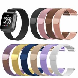 Smart Watches Straps Australia - For Fitbit Versa Watch Band Magnetic Stainless Steel strap Milan Nice Strap Smart Magnetic Metal Watch Loop Wristband 210MM 195MM