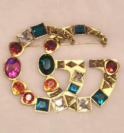 40865415b461 Costume fashion jewelry online-Hot Crystal Rhinestone Carta Broche Pin  Corsage Hueco Broches Joyería de