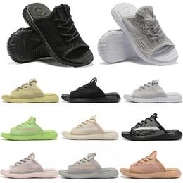Glow heels online shopping - Kanye West Static V2 Slippers Designer Beach Wave Glow Reflective Clay Beluga Real Synth Zebra Orange For Men Women Sports Shoes Sneaker