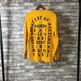 0ad689272 New I Feel Like Kobe Hoodie Kanye West Hip Hop Street Sport Mens Designer  Hoodies Yellow Loose Fit Pullover Sweatshirt