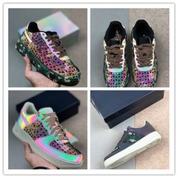 Camouflage Soccer Shoe Australia - 2019 New Fashion Camouflage Chameleon Men Women Low Cut One 1 Air Dunk Forced 1s Sports Shoes Classic Comfortable Breathable Sports Sneakers