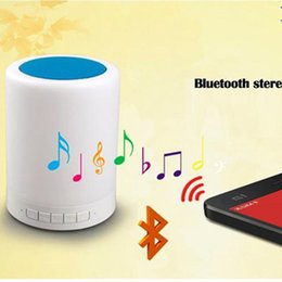wireless light controls NZ - new Smart Touch Control Color LED Night Light Bluetooth Speaker, Portable Wireless Bluetooth Speaker, 7 Color Bedside Table Light