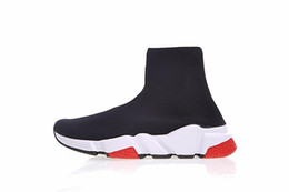 $enCountryForm.capitalKeyWord UK - Cheap Designer Speed Trainer fashion men women Socks Boots black white blue red glitter Flat mens Trainers Sneakers Runner Casual Shoes