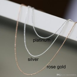 Sterling Silver Chains Women Australia - Fashion 925 Sterling Silver Chain Thin Link Necklace 20inch Silver Thin bead Chain Women Jewelry